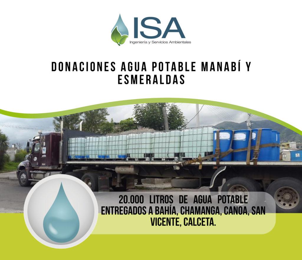 Donaciones ISA Manabí y Esmeraldas